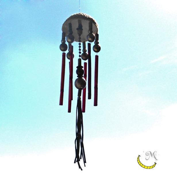 Campana a vento Malice's Craftland - riciclo creativo - artigianato sostenibile italiano