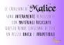 Le creazioni di Malice sono interamente realizzate con materiali riciclati, questo rende ciascuna di esse un pezzo unico e irripetibile