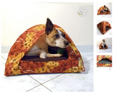 Cuccia igloo da interni per cane - gatto - malice's craftland.jpg