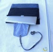 Cover - custodia imbottita per notebook portatile - Malice's Craftland - riciclo creativo - artigianato sostenibile italiano