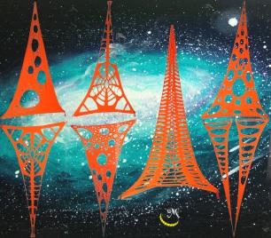 Malice's Craftland - UV fluo decorations - black light - lycra 13
