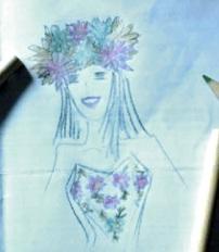 Corona di fiori di stoffa- quinceanera - Malice's Craftland