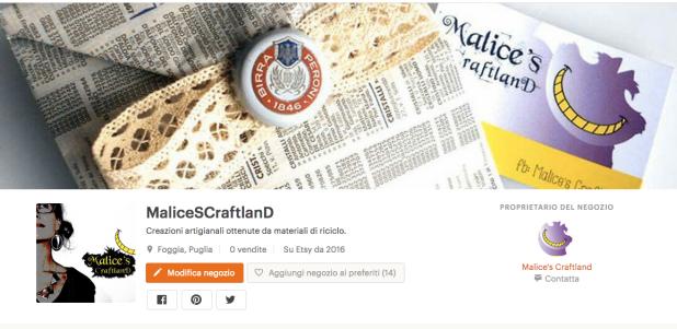 Etsy shop - Malice's Craftland